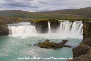 Iceland Weddings and Honeymoon Locations Godafoss Waterfall